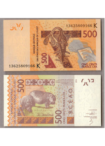 SENEGAL (W.A.S.) 500 Francs 2013