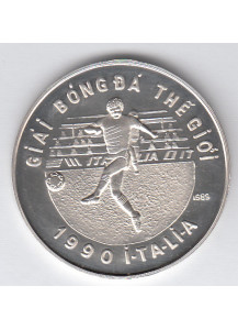 VIETNAM 100 Dong 1989 World Cup Italia 1990 Silver Proof