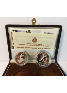 1987 Universiadi Di Zagabria Dittico In  Argento Proof San Marino