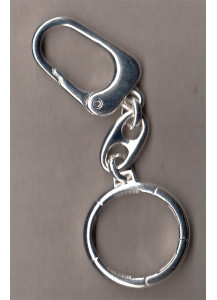 Silver plated keychain for coins or medals diameter from 29.2 to 29.5