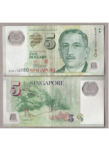 SINGAPORE  5 Dollari 2007 Circualted