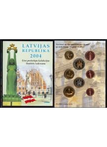 LETTONIA 2004 serie completa 8 monete coin collection prova