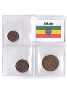 ETIOPIA set da 1 - 2 - 5 Cents circolate