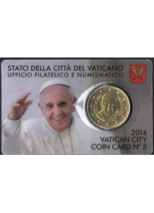 2014 Coin Card 50 Centesimi Papa Francesco 2014 Bergoglio