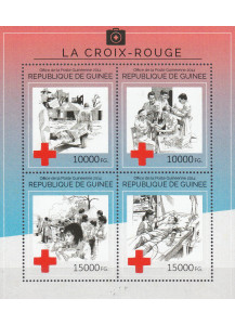 GUINEA  BF New Stamps 2014 Red Cross and fight against malaria