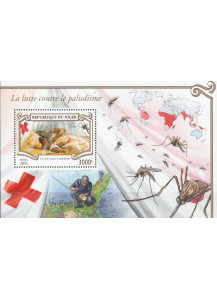 NIGER  BF New Stamps 2015  Red Cross and fight against malaria perforated 1 v.