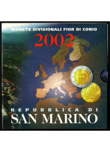 2002 Official  Mint Set 8 Pieces San Marino First Emission in Euro