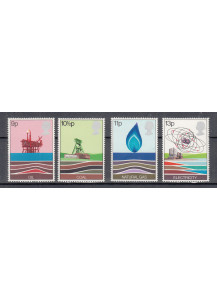 1978 GREAT BRITAIN  ENERGY RESOURCES STAMP SET OF 4 MUH - OIL,COAL,GAS,ELECTRICITY
