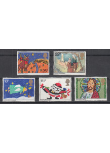 1980 GREAT BRITAIN Christmas 5 val.