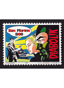 San Marino stamp dedicated to Diabolik comics Lire 800 New
