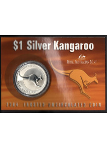 2004 - Dollaro d'argento 1 OZ Canguro Australia in folder