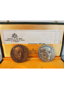 The Centenary Medals commemorating the death of Giuseppe Mazzini 1972