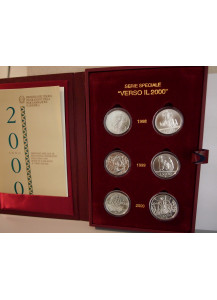 Special series Towards the Year 2000 years 1998 - 1999 - 2000 Silver Unc