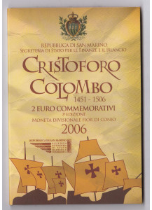 2006 - Cristoforo Colombo 2 € in Folder San Marino