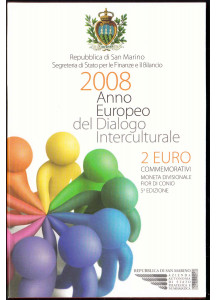 2008 - Dialogo Interculturale 2 € in  Folder San Marino
