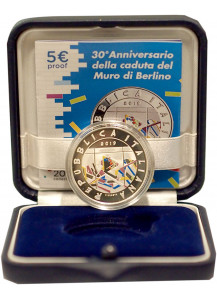 Italy 5 euro 30th anniversary of the fall of the Berlin wall Proof