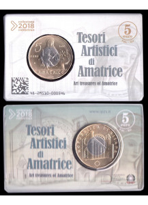 2018 - 5 Euro Bimetallic ITALY Artistic Treasures of Amatrice BU