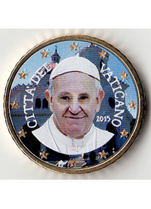 2015 - 50 Centesimi VATICANO Papa Francesco Anno II Smalatato Fdc