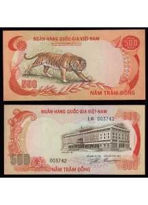 VIETNAM SUD 500 Dong 1972 Fds Tigre