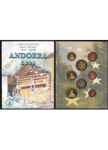 ANDORRA 2003 serie completa 8 monete coin collection prova