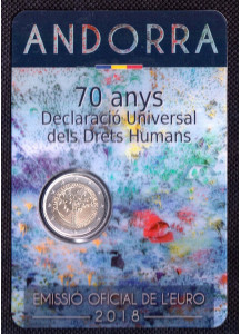 2018 -  2 Euro ANDORRA 70th Universal Declaration of Human Rights BU