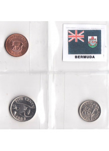 BERMUDA Set composto da  1 - 5 - 10 Cents Spl