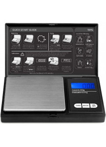 Digital pocket scale for coins from 0.1 Gr. Up to 100 Gr. Batteries included