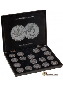 Presentation Case 20 Coins Silver Maple Leaf in Capsules