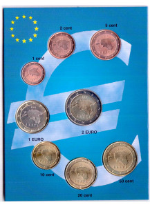 ESTONIA 2011 Serie 8 monete euro Fior di Conio