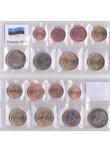 ESTONIA 2018 Serie 8 monete euro Fior di Conio