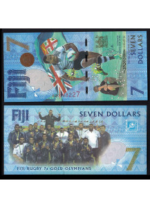 ISOLE FIJI 7 Dollars 2016 Rugby Fior di Stampa