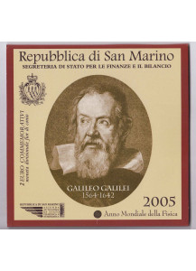 2005 - Galileo Galilei 2 € in Folder San Marino