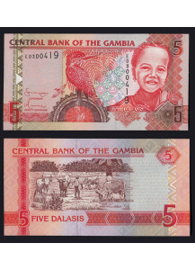 "GAMBIA 5 Dalasis ""Giant Kingfisher"" 2006-2013 Uncirculated"