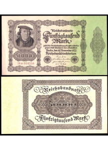 Germania 50.000 Mark 1922 Quasi Fior di Stampa