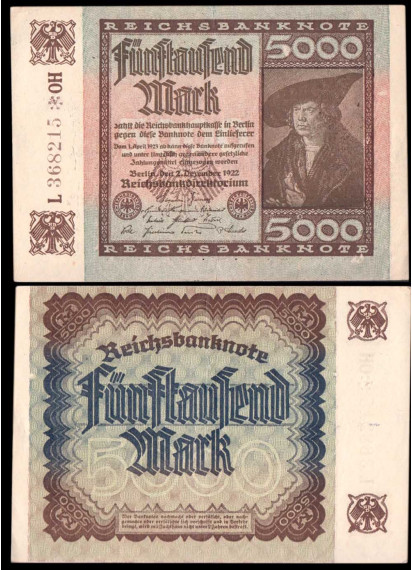 GERMANIA 5000 Mark 1922 Quasi Fior di Stampa