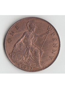 Great Britain 1 Penny 1921 VF+