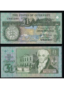 GUERNSEY 1 Pound Fior di Stampa 1980