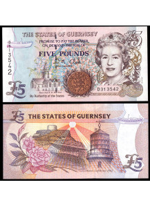 GUERNSEY 5 Pounds 1996 Fior di Stampa