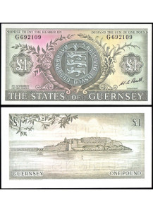GUERNSEY 1 Pound 1969 Fior di Stampa