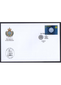 2021  First Day Cover 1 stamp for the victory of the Italian Football Championship Inter FDC