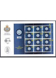 2021- First Day Cover 12 stamps for the victory of the Italian Football Championship Inter