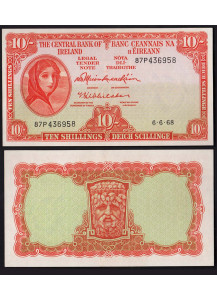 "IRLANDA Eire 10 Shillings ""Lady Lavery"" 1968  Fior di Stampa"
