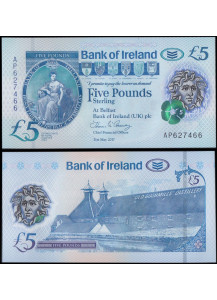 NORTHERN IRELAND Bank of Ireland 5 Pounds 2017 (2019) Unc
