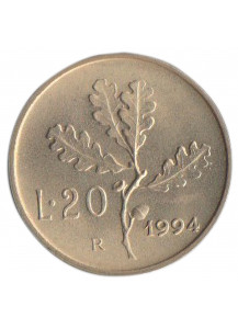 1994 Lire 20 Uncirculated Italy
