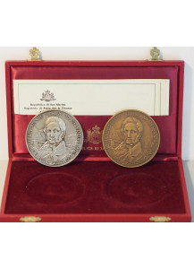 San Marino silver and bronze medals First Century of Alessandro Manzoni's Death