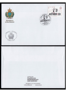 First day cover with timbre JUVENTUS Official 2019/2020 Scudetto