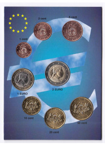 LATVIA 2014 Series 8 coins euro Uncirculated