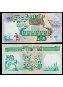 SEYCHELLES 50 Rupees 1989 Uncirculated