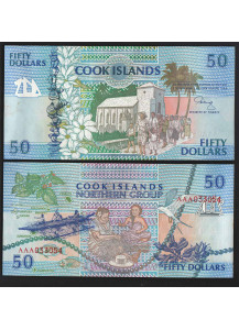 COOK ISLANDS 50 Dollars 1992 Fior di Stampa