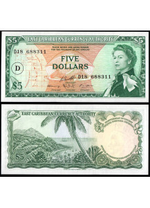 Dominica 5 Dollar 1965 Uncirculated